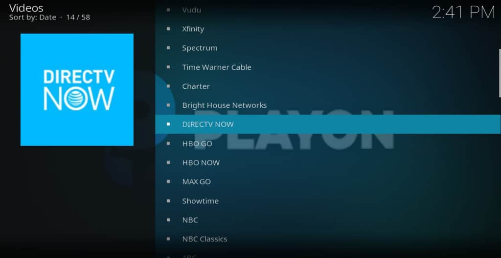 DirecTV Now with PlayOn