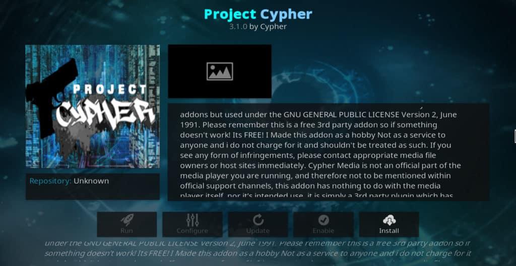 Project Cypher Kodi addon