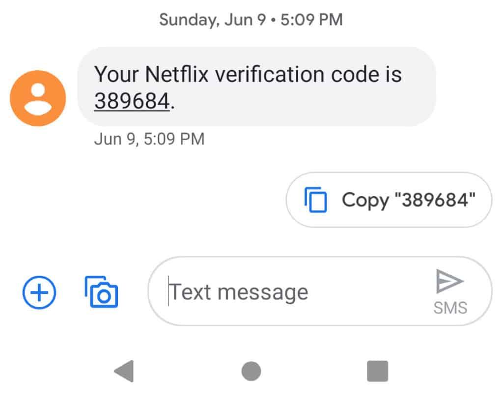 netflix sms 2fa