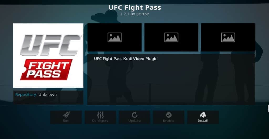 UFC Fight Pass Kodi addon