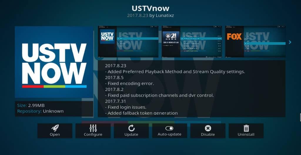 USTVNow Kodi addon Install DAZN on Kodi
