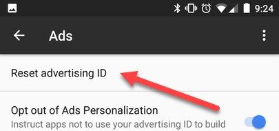 google advertising id