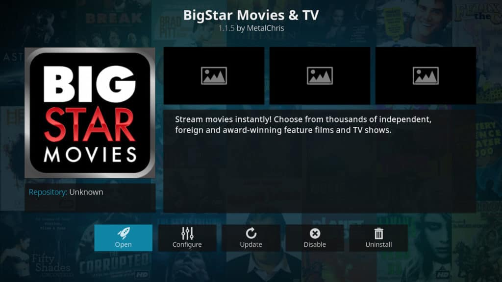 BigStar Movies and TV Kodi addon