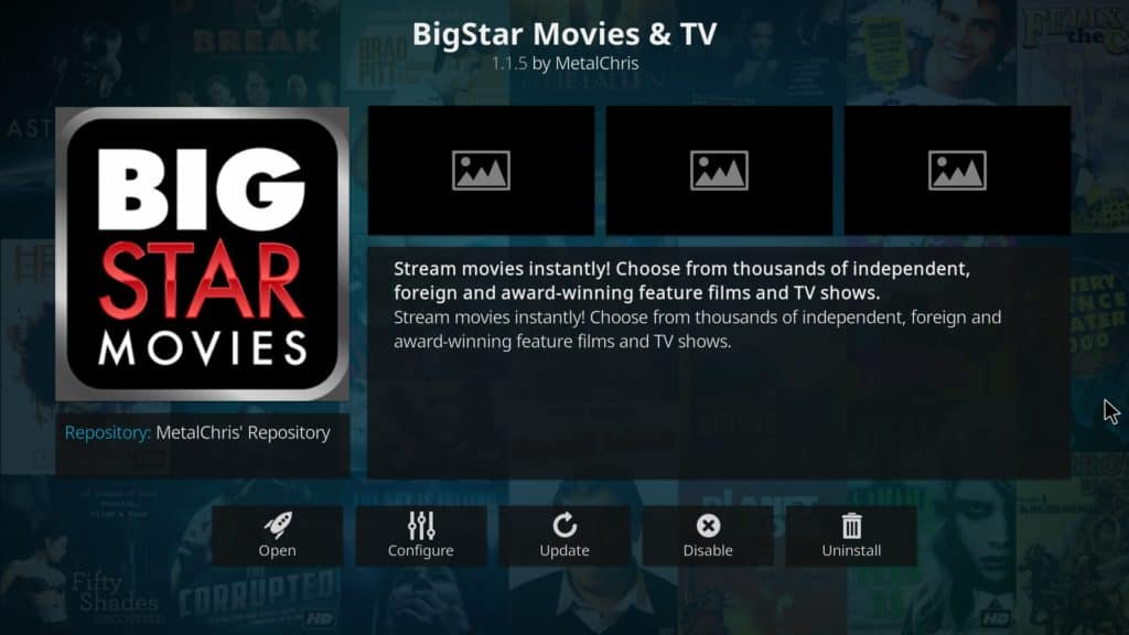 BigStar Movies & TV Kodi addon