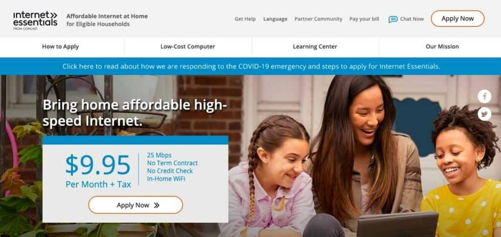 The Comcast Internet Essentials program.
