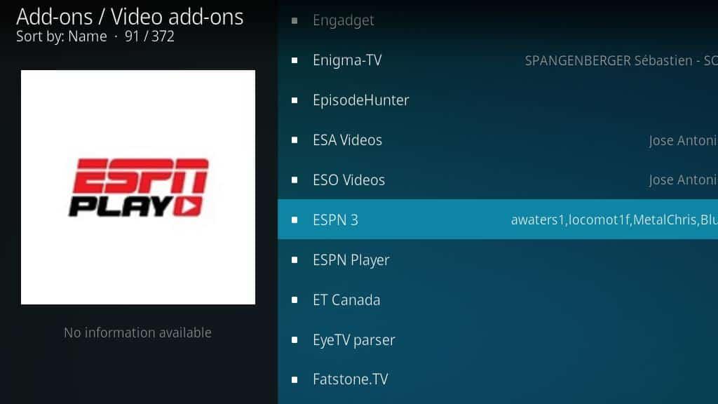 ESPN 3 Kodi Addon: How to watch ESPN on Kodi - Comparitech