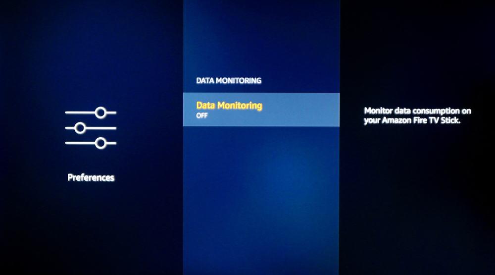 fire tv data monitoring