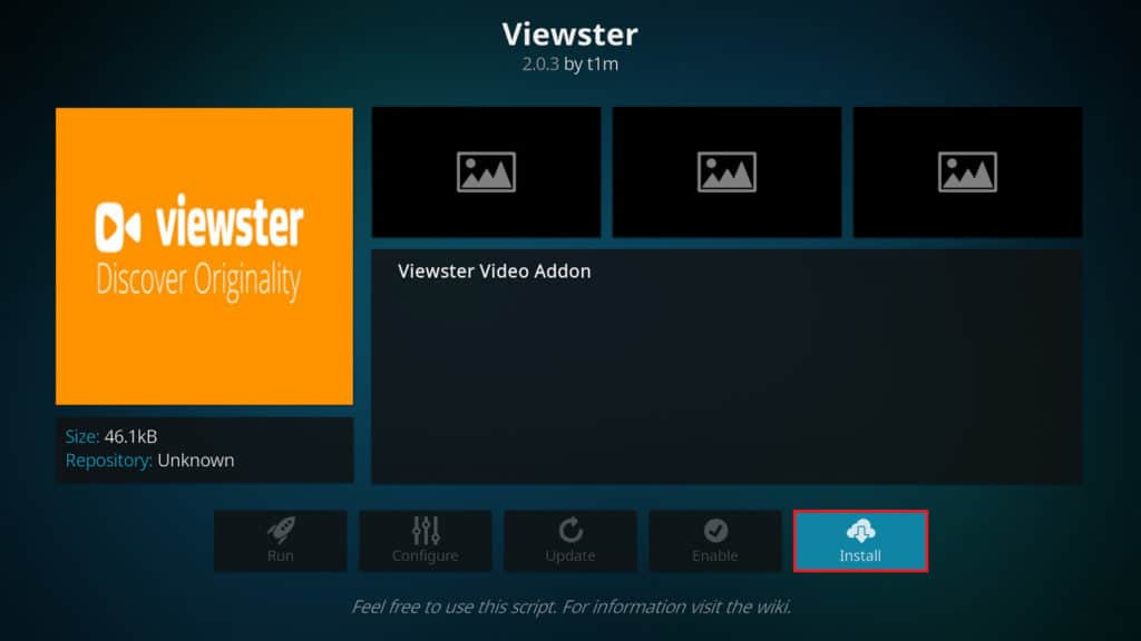 Kodi Viewster information