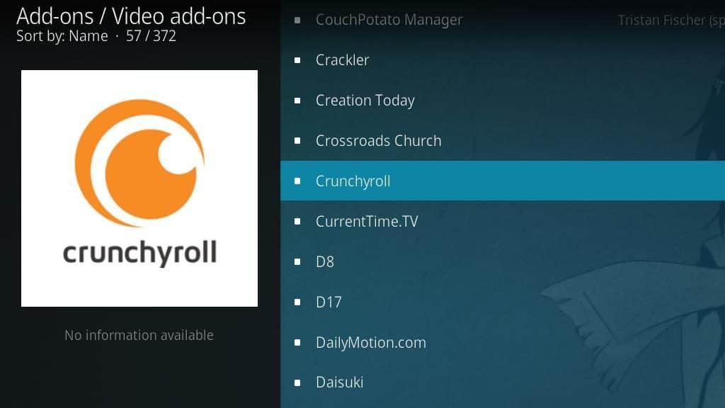 Crunchyroll Kodi Addon - Install 4