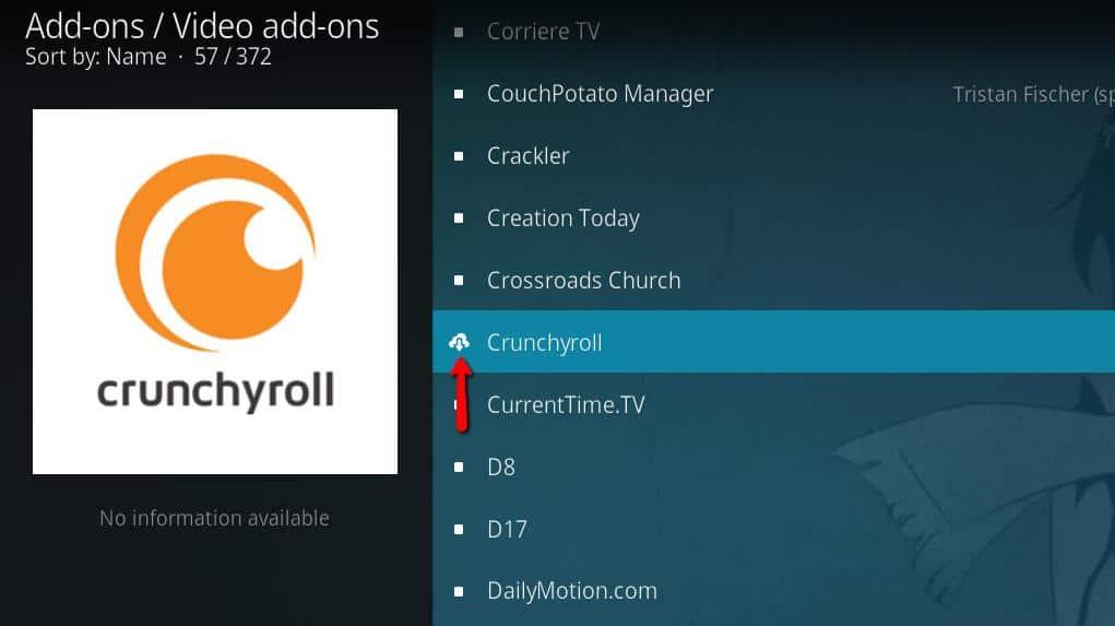Crunchyroll Kodi Addon - Install 6