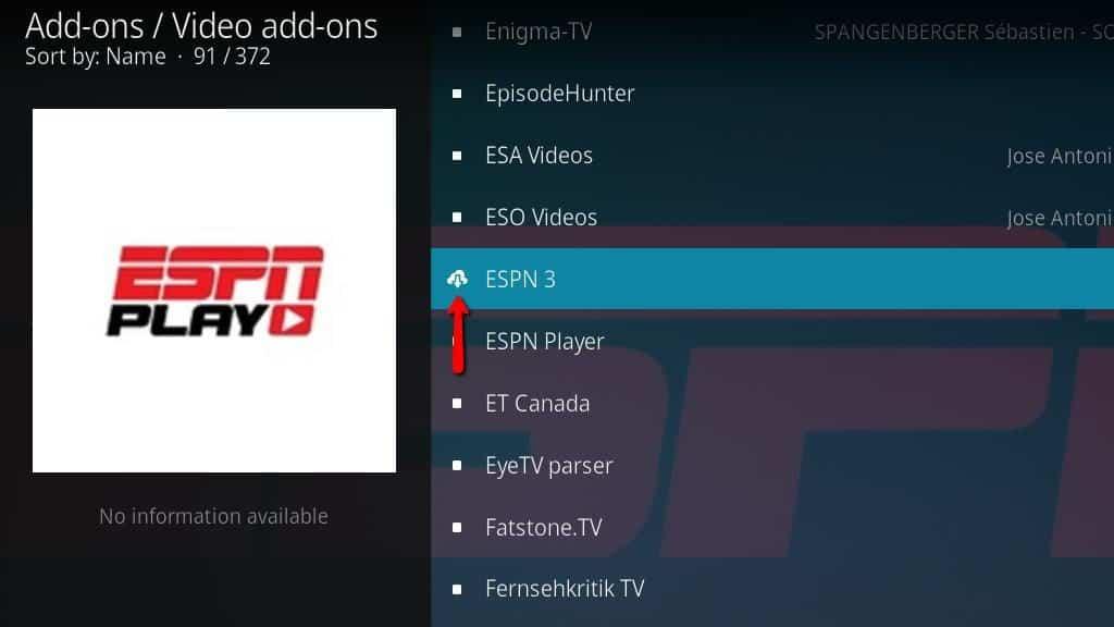 ESPN 3 Kodi Addon - Install 6