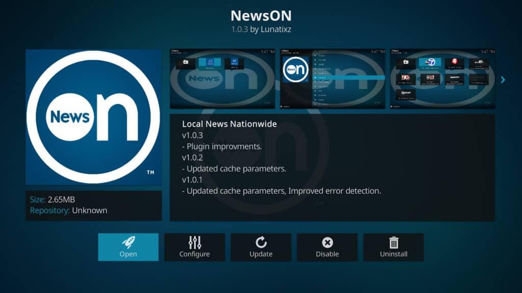 NewsON Kodi addon best kodi addons