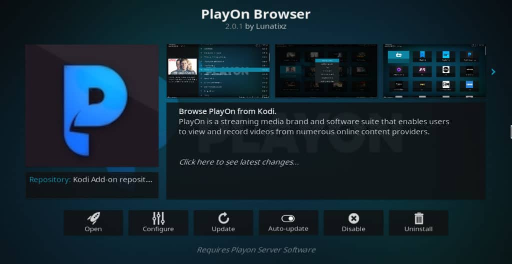 PlayOn Browser Kodi Addon