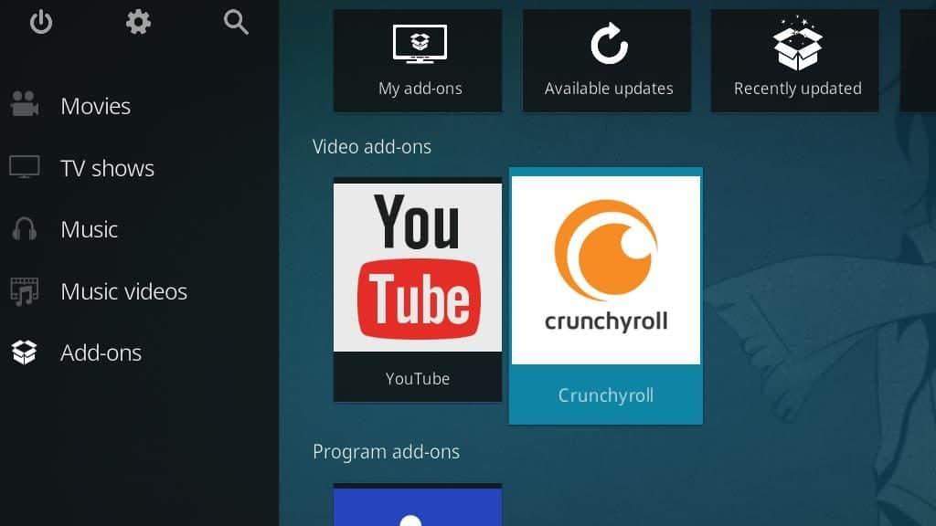 Crunchyroll Kodi Addon - Configure 1