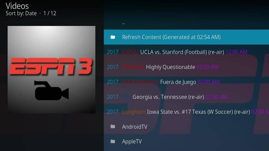 ESPN 3 Kodi Addon - Configure 6