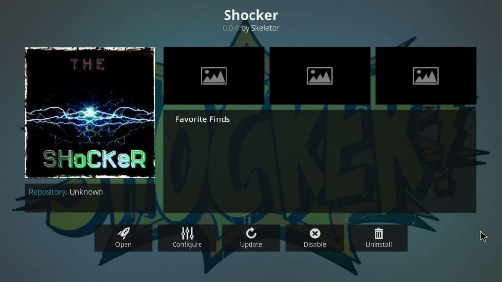 Shocker Kodi addon