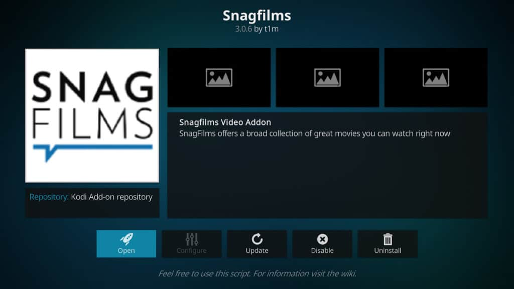 SnagFilms Kodi addon best kodi addons