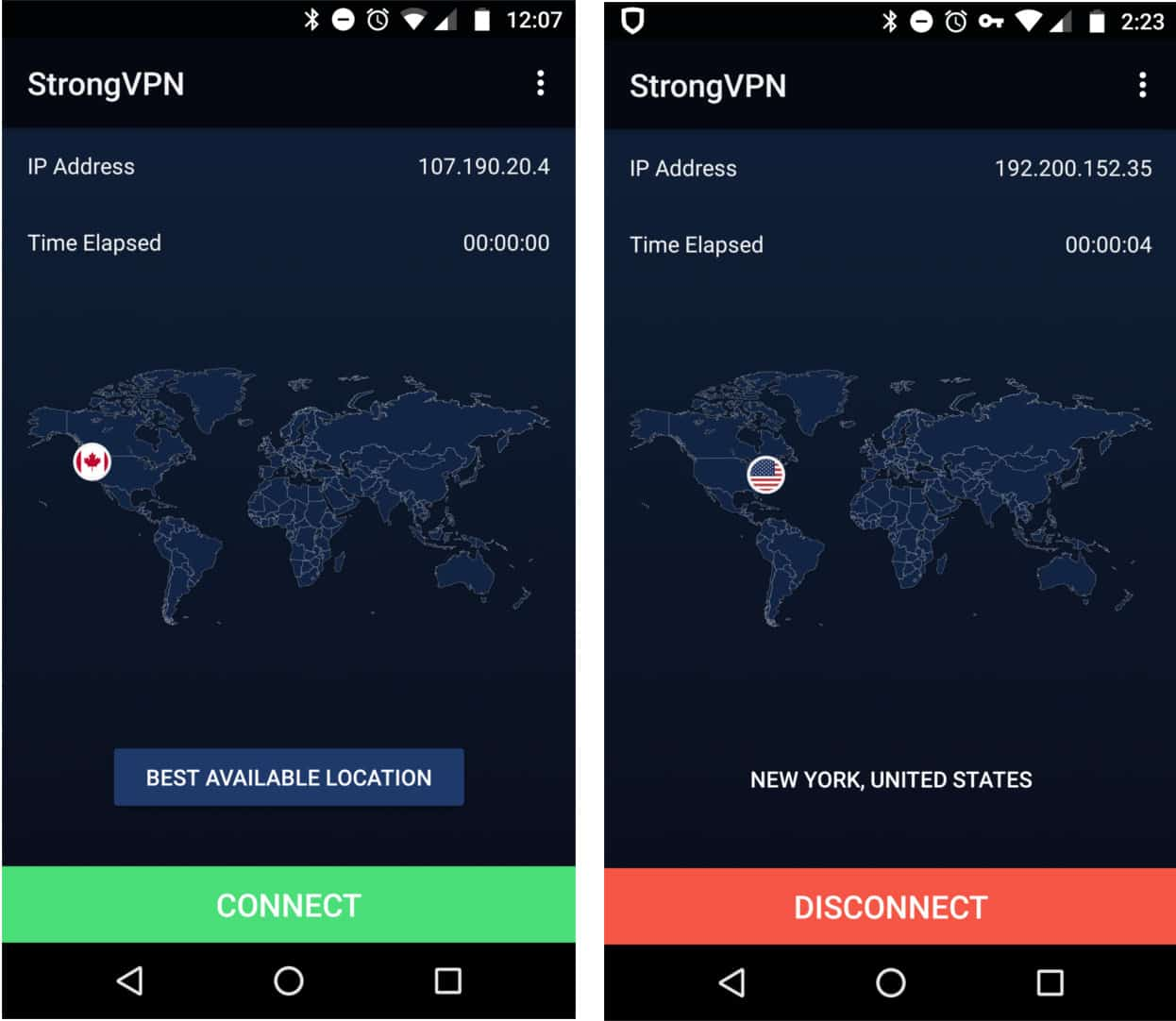 strongvpn android home