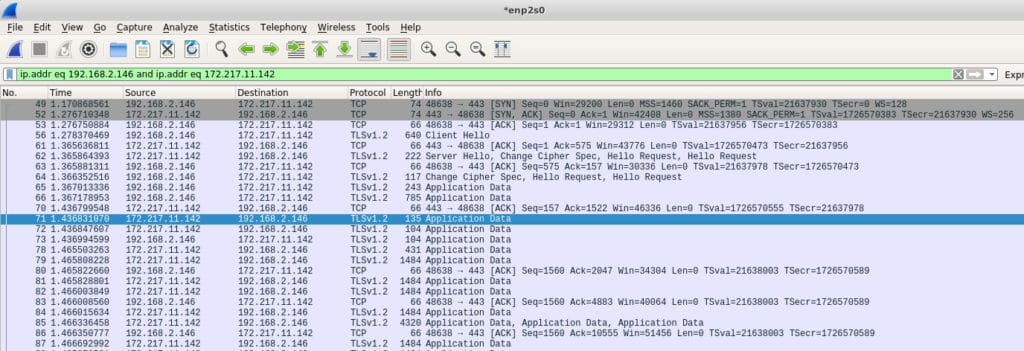 wireshark-google tcpdump