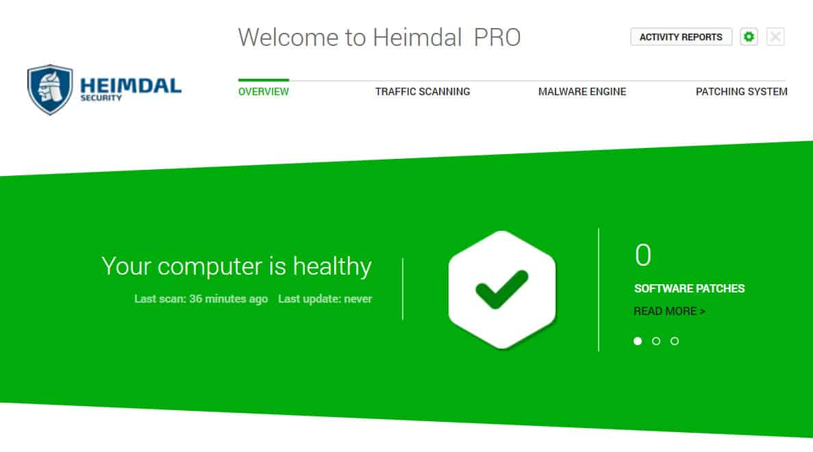 Heimdal PRO interface