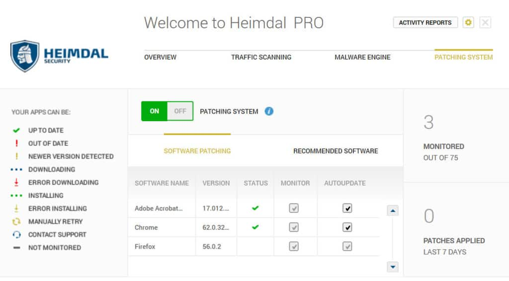 Heimdal Software updates