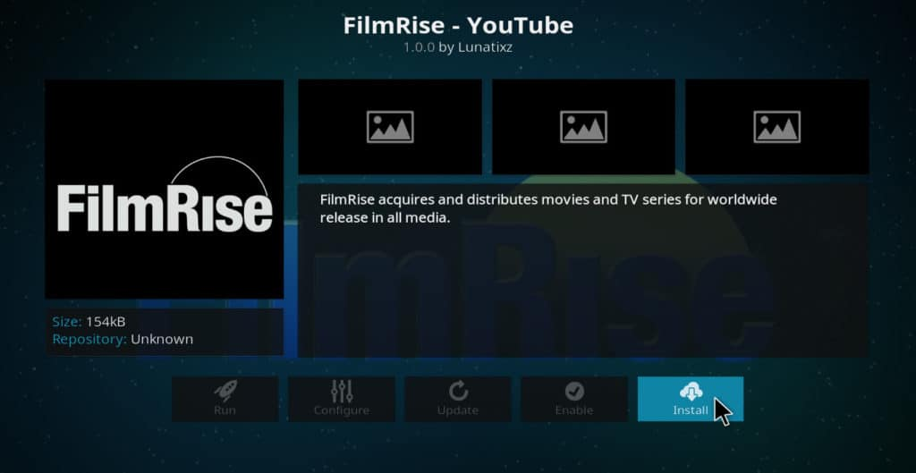 FilmRise Kodi addon install