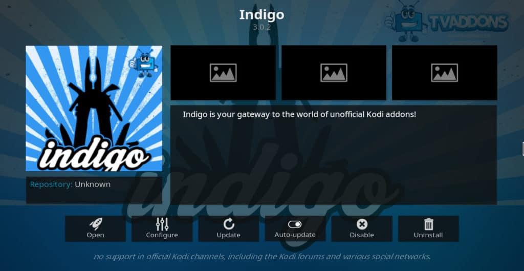 Indigo Kodi addon best kodi addons