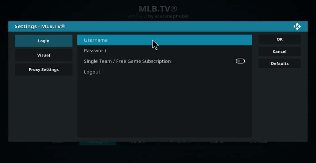 MLB.tv login info