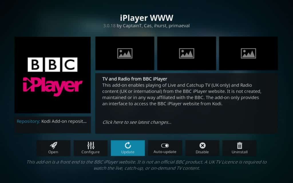 kodi update bbc iplayer www