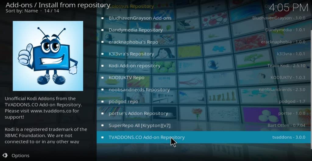 TVAddons repository