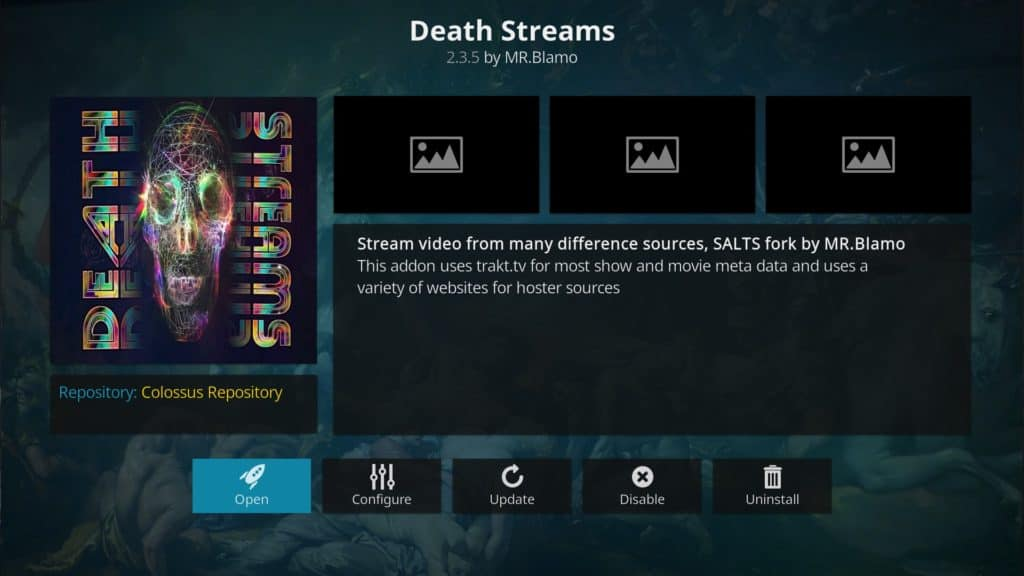Death Streams Kodi addon