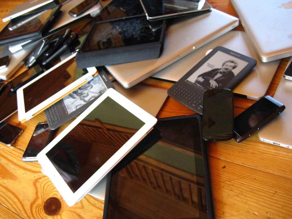 BYOD device pile
