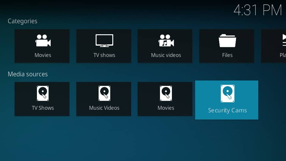 Kodi Security Cameras - RTSP
