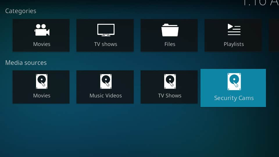 Kodi Security Cameras - DVR