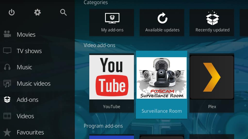 Kodi Security Cameras - Surveillance Room