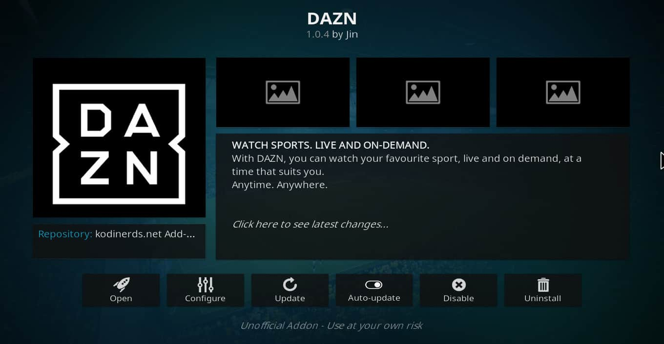 How to install DAZN Kodi addon and some alternatives if it is not