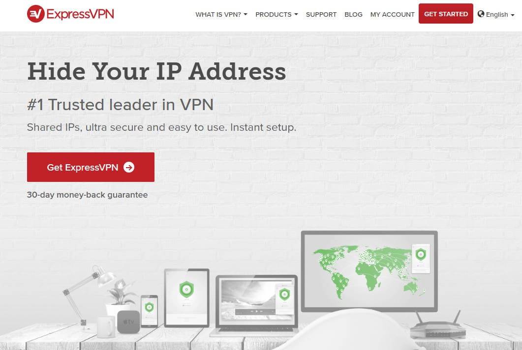 ExpressVPN hide IP
