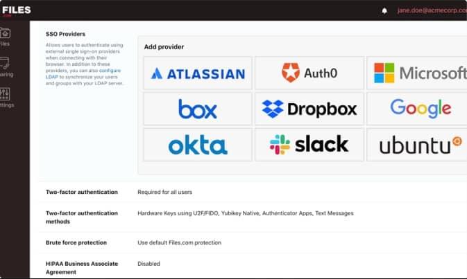 Files.com SSO Dropbox
