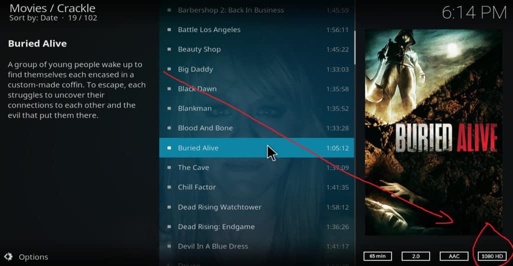 Kodi HD movies 3