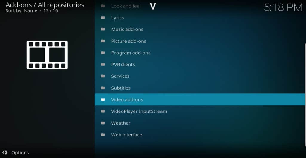 Kodi download video addons
