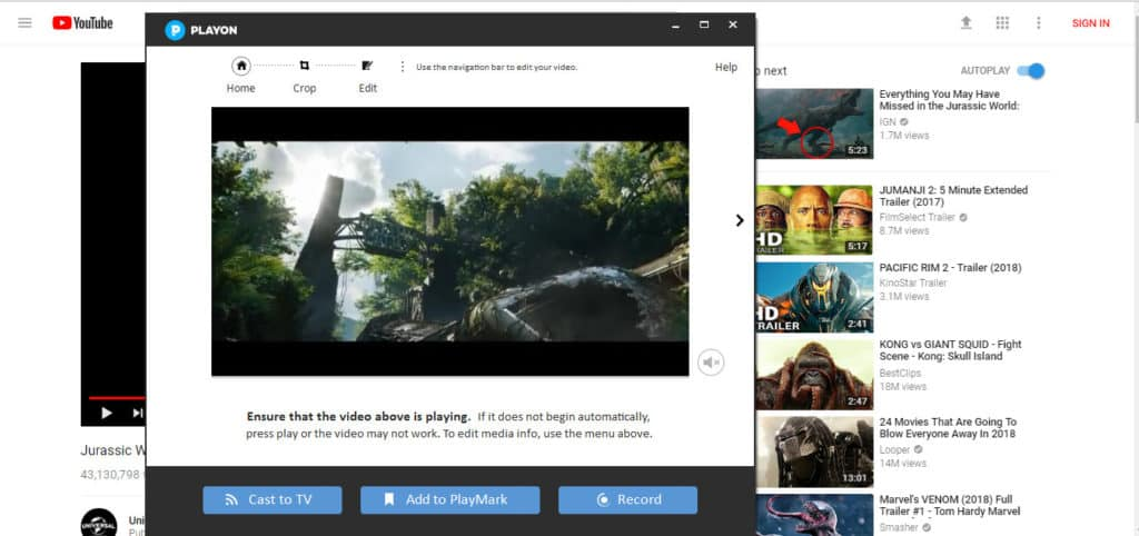 Playon browser addon 2