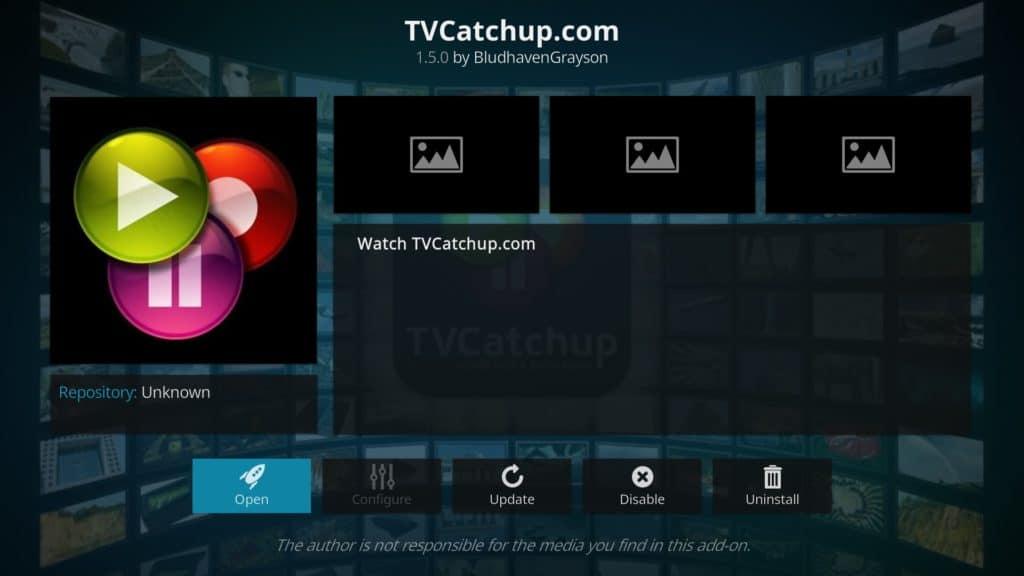 TVCatchup Kodi addon