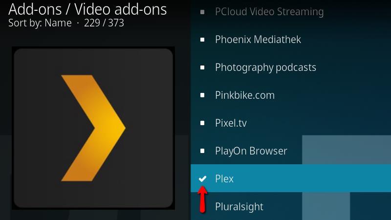 Plex Kodi Addon - Installation