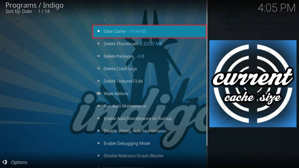 kodi how to clear library