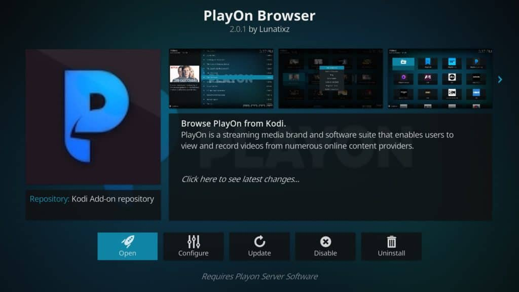 PlayOn browser Kodi addon super bowl 53 without cable
