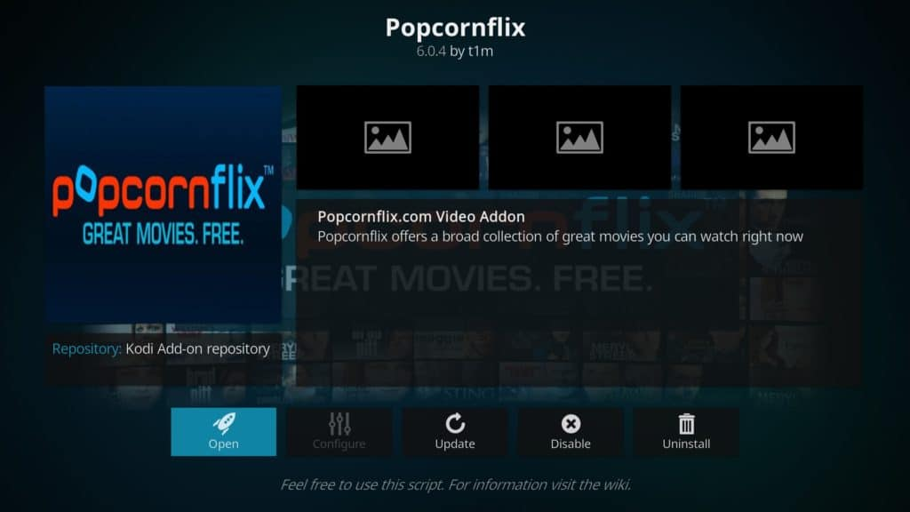 How to install PopcornFlix on Kodi