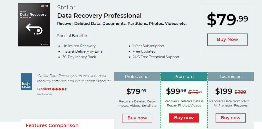 stellar data recovery windows professional