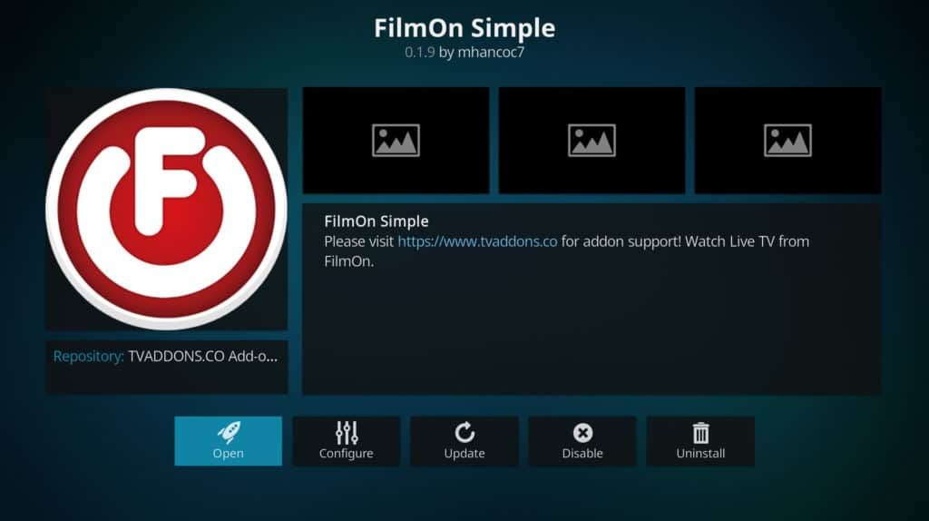 Filmon simple DAZN on Kodi