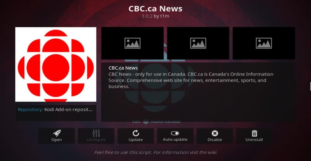 CBC.ca Kodi addon