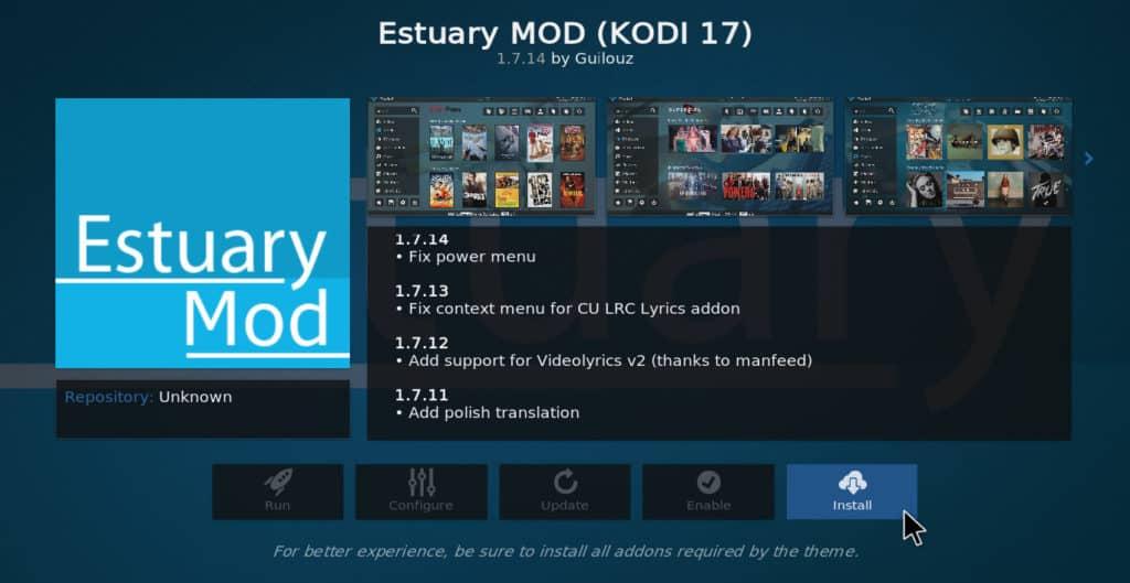 Estuary Mod install